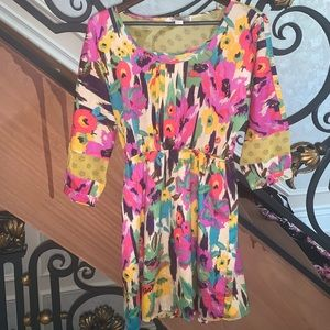 Floral summer skater dress size Small